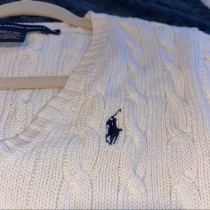 Off White Cable Knit Chunky Sweater